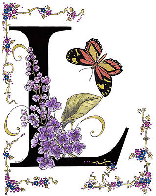 Lilac And Large Tiger Butterfly Print by Stanza Widen