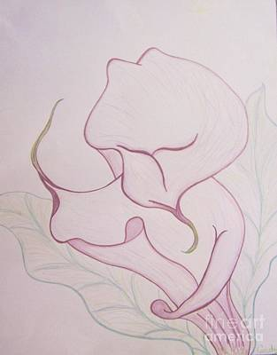 Lilac Calla Lilly Original by Audrey Thompson
