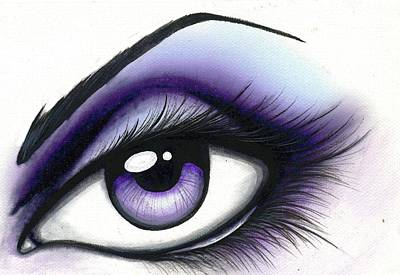 Eyes Painting - Lilac by Elaina  Wagner