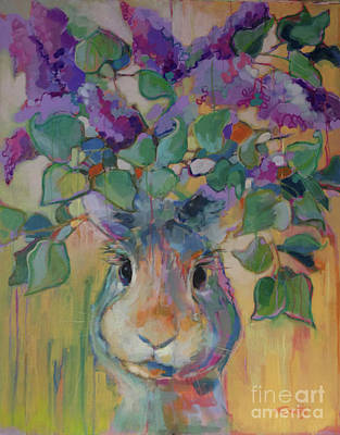Peaches Painting - Lilac by Kimberly Santini