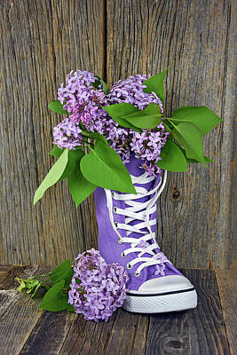 Lilac Sneaker Print by Maria Dryfhout