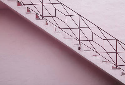Lilac Staircase Print by Rudy Umans