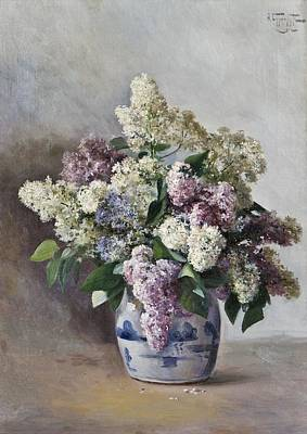 Lilacs In A Pot Print by MotionAge Designs