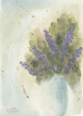 Lilacs Original by Ken Powers