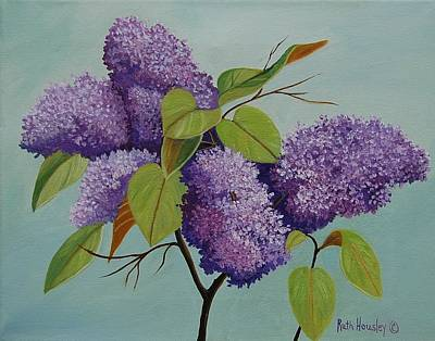 Lilacs Print by Ruth  Housley