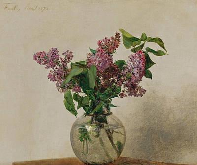 Henri Fantin-latour Painting - Lilas by Henri Fantin-Latour