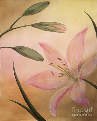 Lilies Part 2 Print by Cathy Cleveland