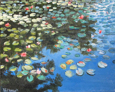Lilly Pond Painting - Lilies by Paul Walsh