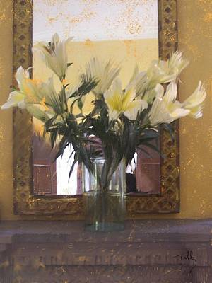 Dining Room Italian Painting - Lilies by Thomas Tribby