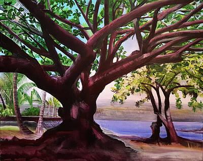 Lilioukalani Park Tree, Hilo, Hawai'i Original by Ethel Mann
