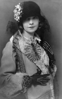 1920s Fashion Photograph - Lillian Gish 1893-1993, Silent Film by Everett