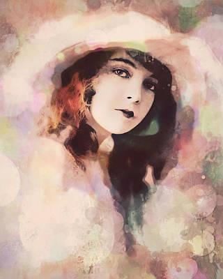 Digital Art - Lillian Gish - The Portrait by Darlanne