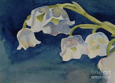 Spring Bulbs Painting - Lilly Of The Valley by Gretchen Bjornson