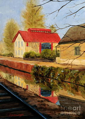 Lilly's On The Canal Print by Cindy Roesinger