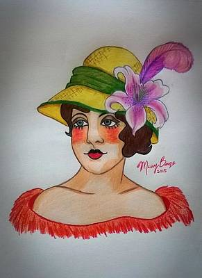 Lily From The Hat Series Print by Missy  Brage