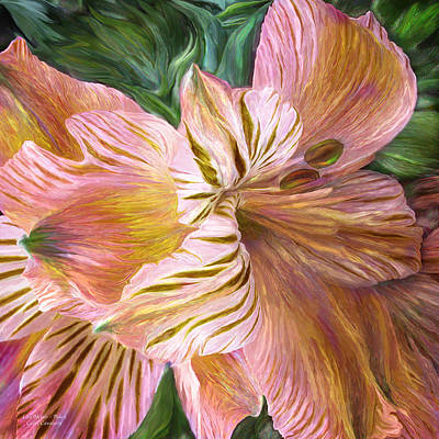 Lilies Mixed Media - Lily Moods - Peach by Carol Cavalaris