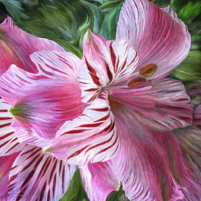 Lilies Mixed Media - Lily Moods - Pink by Carol Cavalaris