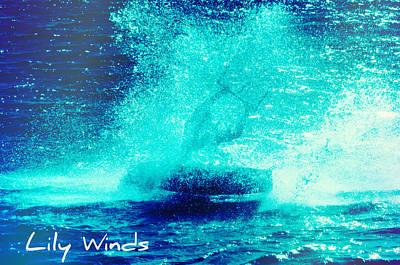Lily Winds Kiteboarder Spirit Shine Print by Lily Winds