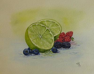 Lime And Berries Original by Kelly Mills