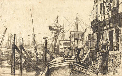 Tonalist Relief - Limehouse by James Abbott McNeill Whistler