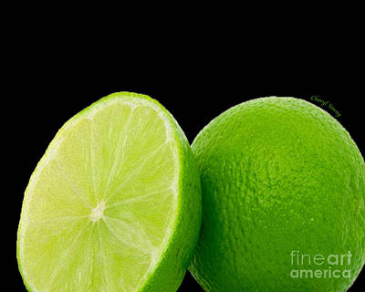 Limes Print by Cheryl Young