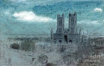 Light Painting - Lincoln Cathedral In The Evening Light by MotionAge Designs
