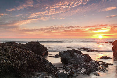 Lincoln City Beach Sunset - Oregon Coast Original by Brian Harig
