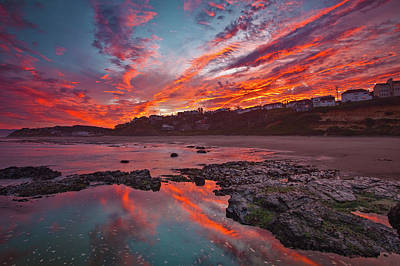 With Photograph - Lincoln City Sunrise by Darren White