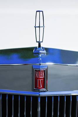 Lincoln Photograph - Lincoln Continental Mark Iv Hood Ornament - Emblem -ck0139c by Jill Reger