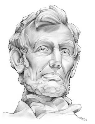 Statues Drawing - Lincoln by Greg Joens