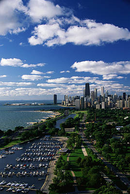 Lincoln Park And Diversey Harbor Print by Panoramic Images