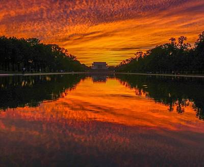 Washingtondc Photograph - Lincoln Sunset by Christopher Duncan