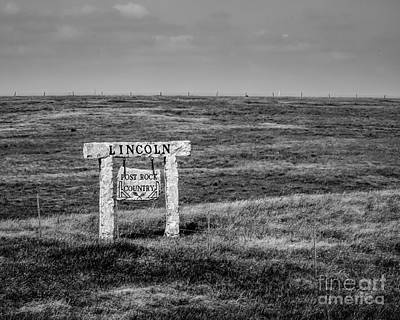 Lincon County - Post Rock Country Print by Jon Burch Photography