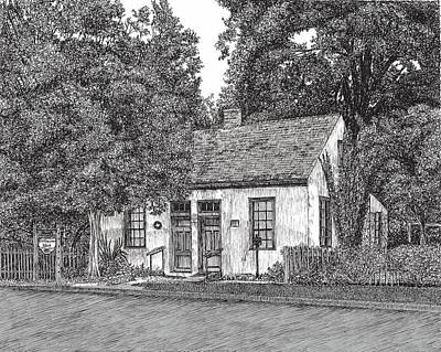 Drawing - Lindheimer House by Stephany Elsworth