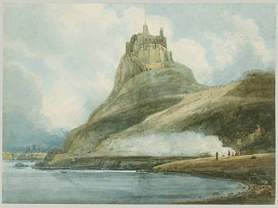 Northumberland Painting - Lindisfarne Castle Holy Island by Thomas Girtin