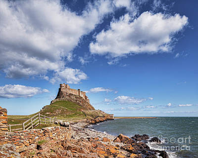 Lindisfarne Photograph - Lindisfarne Castle, Northumberland by Colin and Linda McKie