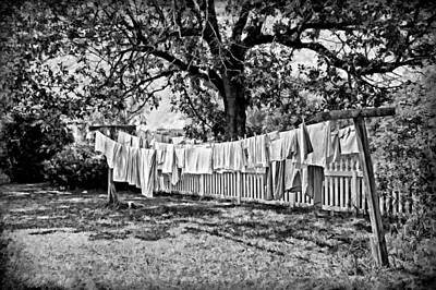 Vintage Clothes Photograph - Line Drying - Laundry by Nikolyn McDonald