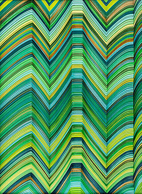 Curvilinear Painting - Lineas No.11 by George Sanen