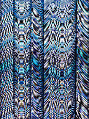 Curvilinear Painting - Lineas No.9 by George Sanen