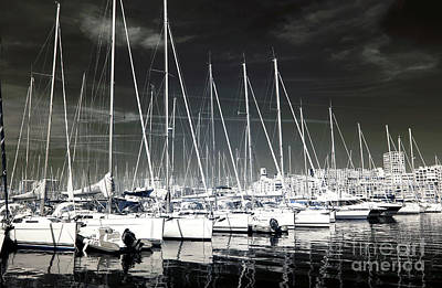 Lined Up In Marseille Print by John Rizzuto