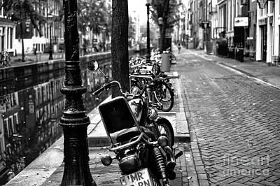 Lines In Amsterdam Mono Print by John Rizzuto