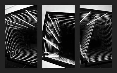 Angular Photograph - Lines Of Light Triptych by Jessica Jenney