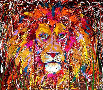 Lion 4 Original by Angie Wright