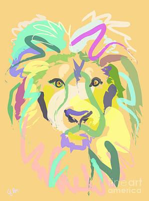 Animals Digital Art - Lion by Go Van Kampen