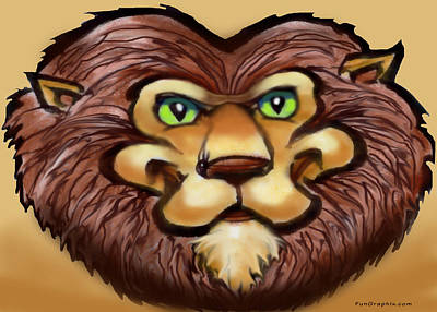 Lion Painting - Lion by Kevin Middleton