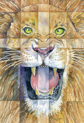 Lion Of Judah Print by Mark Jennings
