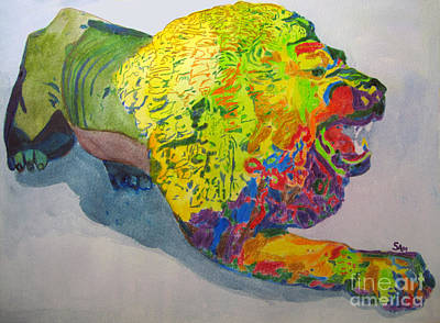 Growling Painting - Lion Of Judah by Sandy McIntire