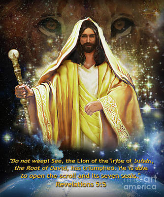Lion Of The Tribe Judah Original by Todd L Thomas