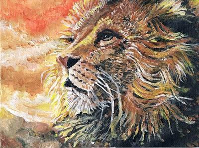 Lion Of Judah Painting - Lion Of The Tribe Of Judah by Cassandra Donnelly