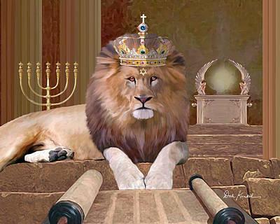 Lion Of The Tribe Of Judah Print by Dale Kunkel Art